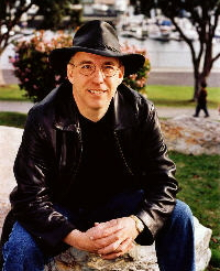 Mark John (he doesn't wear that hat much anymore, but he still likes the look) in Marina Del Rey, CA. March 2003.